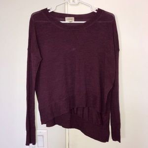 WILFRED Sweater in Burgundy. Size XS.